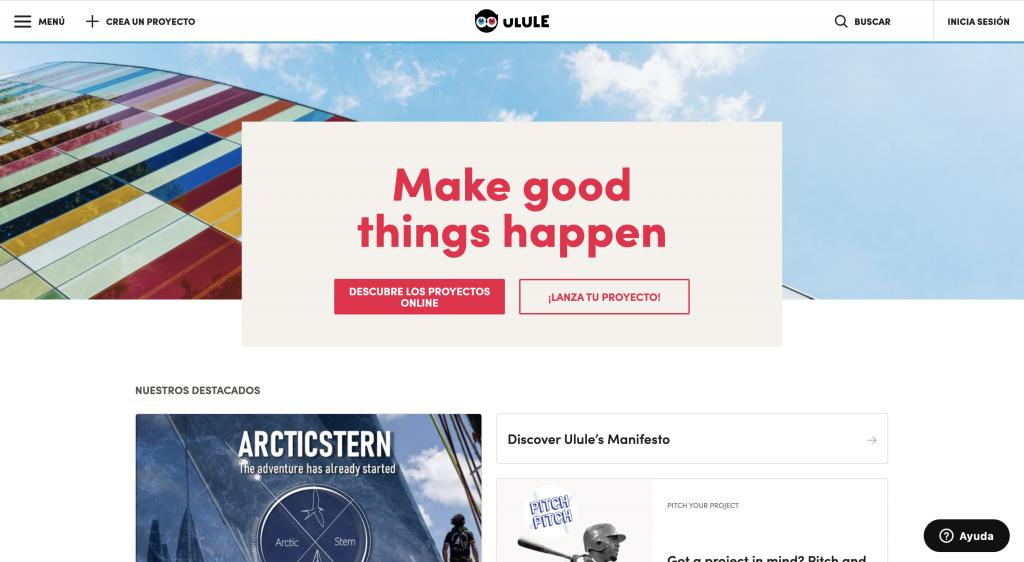 Plataforma de crowdfunding Ulule