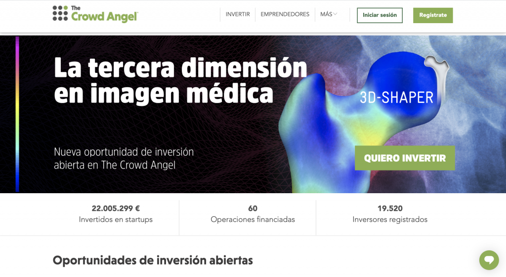 The Crowd Angel crowdfunding platform